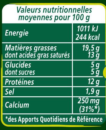Apéricube Recettes aux herbes 48C - Informations nutritionnelles - fr