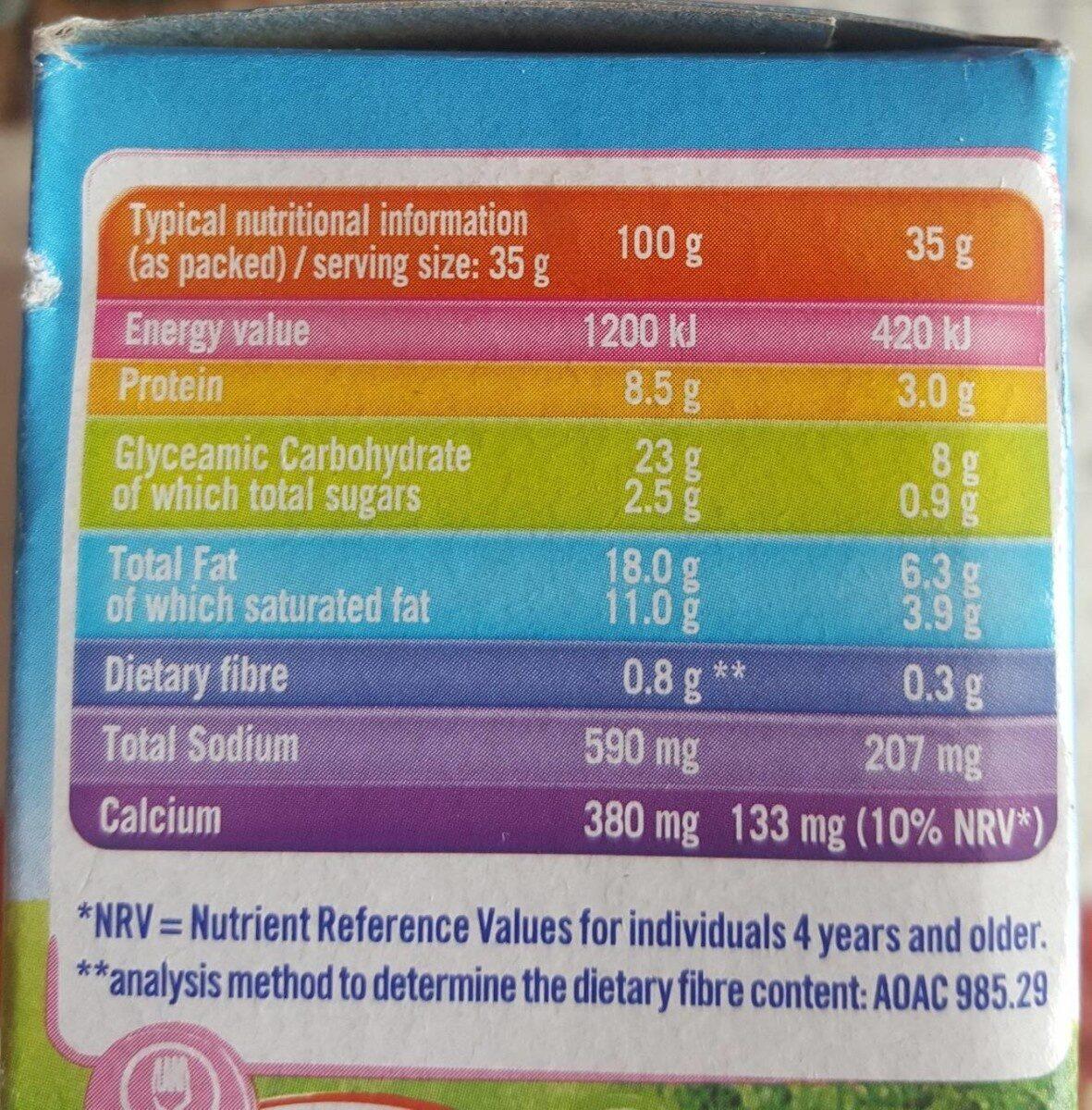 Kiri Dip&Crunch - Informations nutritionnelles - fr