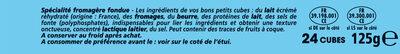 Apéricube Proxi Nature 24C - Ingrédients - fr
