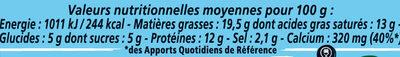 Apéricube Proxi Nature 24C - Informations nutritionnelles - fr