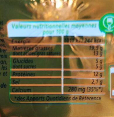 Apericube Saveurs Emmental gratiné, bleu, tomate - Voedingswaarden - fr
