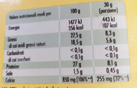 Leerdammer - Informations nutritionnelles - it