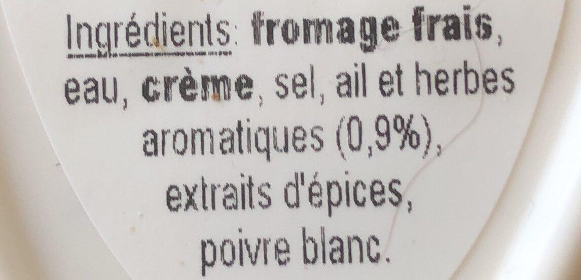 Ail & Herbes de Provence - Ingredients