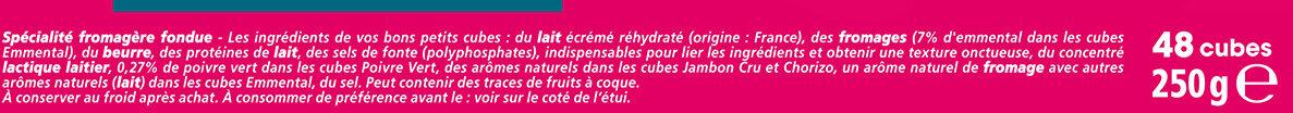 Apéricube Incontournables de l'Apéro 48C - Ingredients - fr