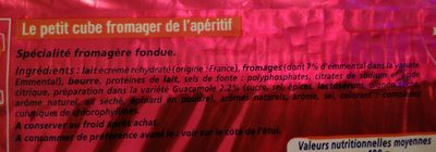 Apéricube Les Incontournables de l'Apero - Ingrediënten - fr