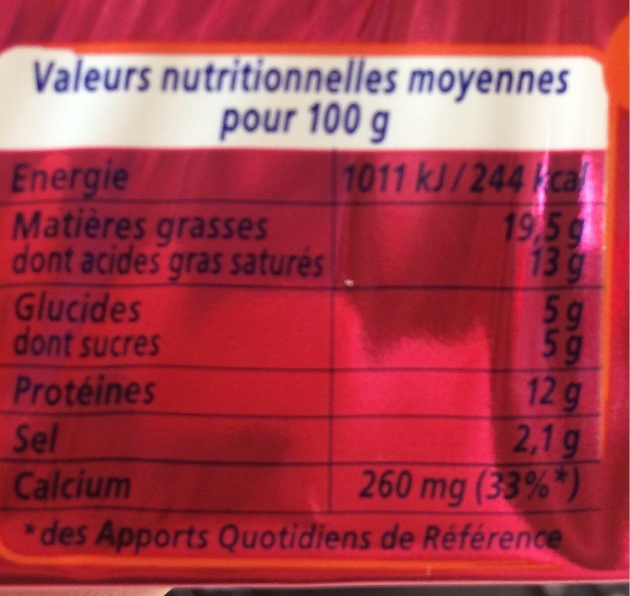 Apéricube Incontournables de l'Apéro 48C - Nutrition facts - fr