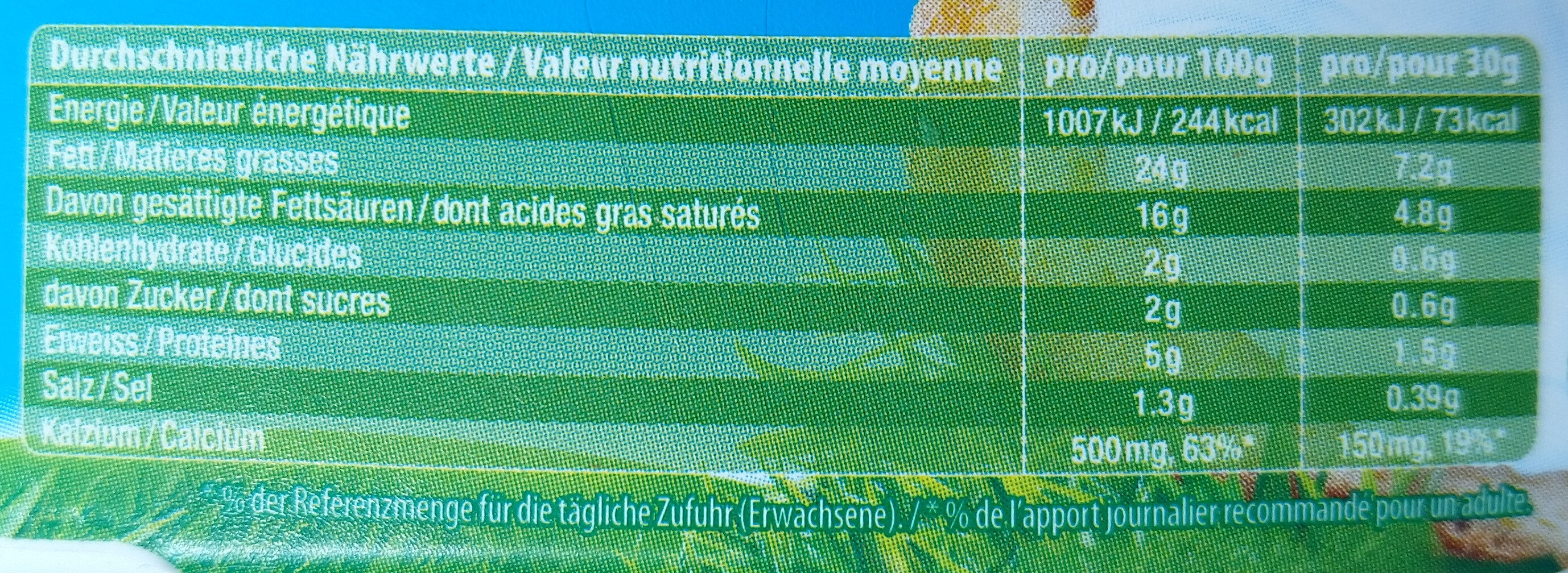 Kiri - Informations nutritionnelles - de