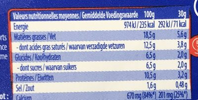 Fondant - Nutrition facts - fr