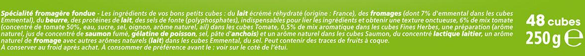 Apéricube Classic's de l'Apéro 48C - Ingredients - fr