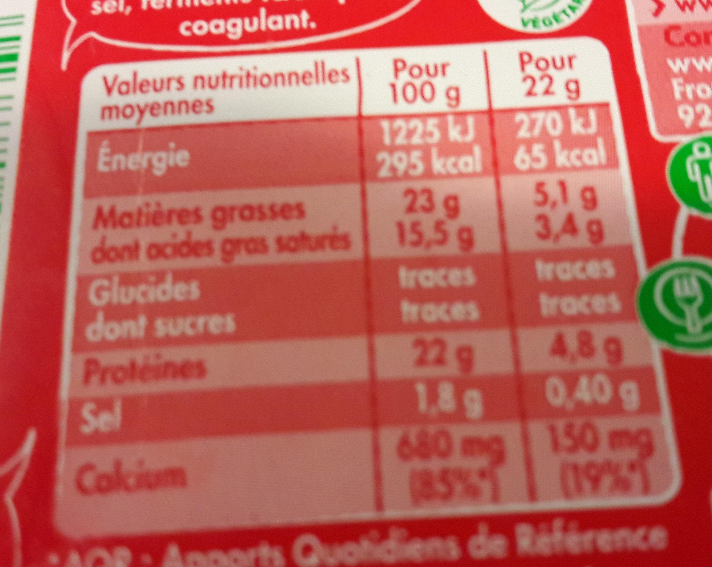 Mini Babybel x14 - Nutrition facts - fr