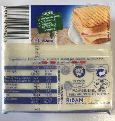 Toastinette original - Voedingswaarden - fr