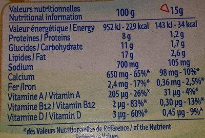 La vache qui rit - Informations nutritionnelles - fr