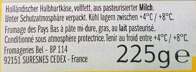 Leerdammer - Ingrediënten - fr