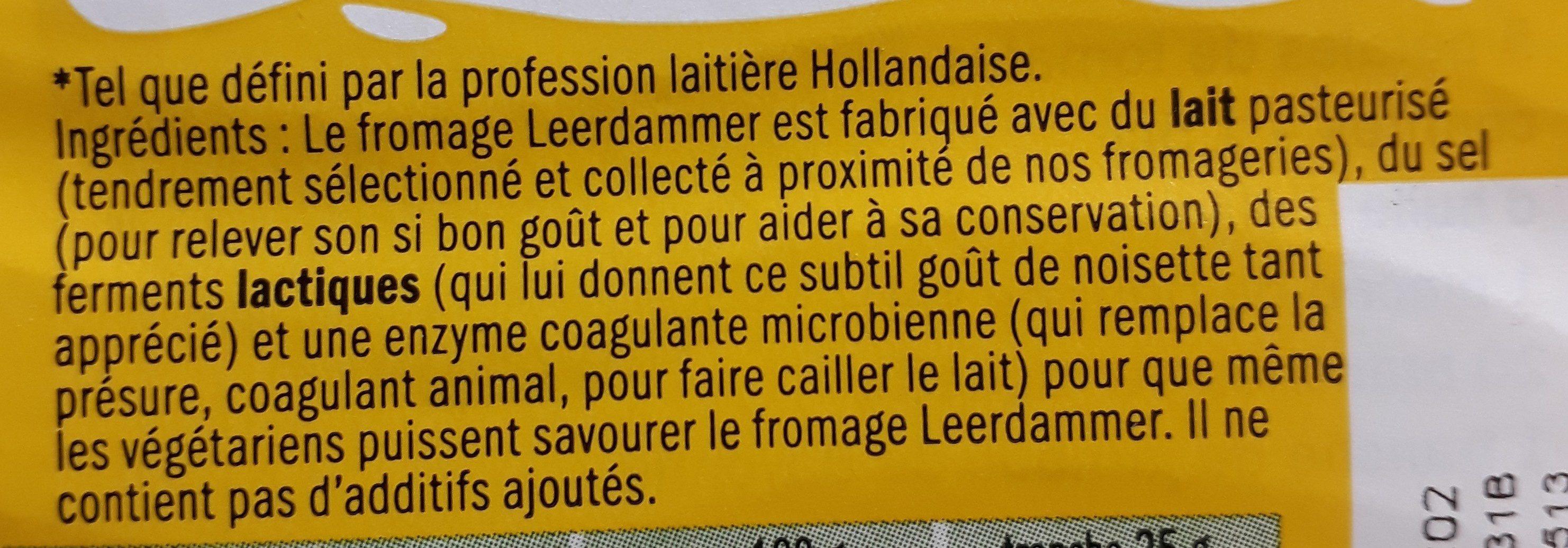 Leerdammer - Ingrédients - fr