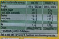 Leerdammer - Informations nutritionnelles - fr