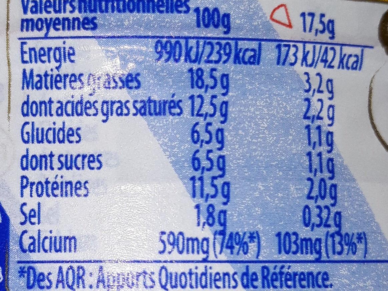Vache qui rit 16p 280g promo - Informations nutritionnelles - fr