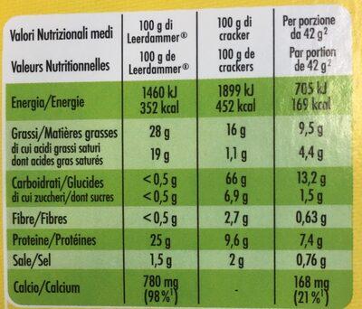 Leerdammer Break Crackers - Valori nutrizionali - fr