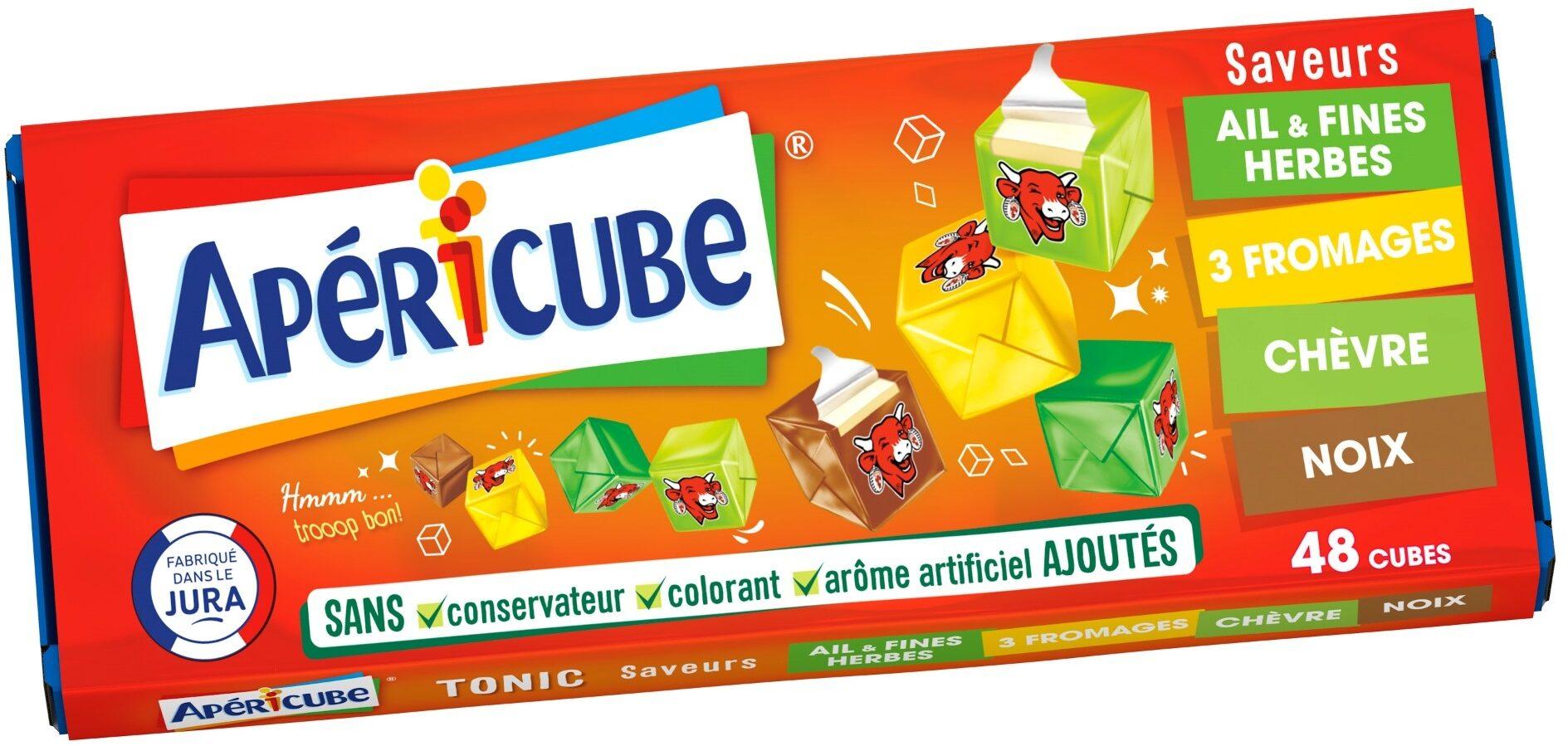 Apéricube Tonic (Ail & Fines Herbes, 3 Fromages, Chèvre, Noix) - Product - fr