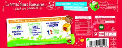Apéricube Tonic 48C - Informations nutritionnelles - fr