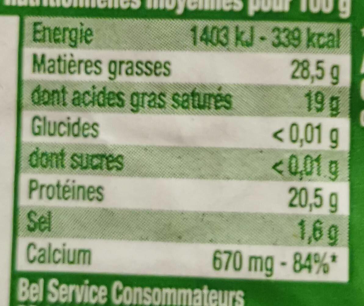 Babybel - Nutrition facts - fr
