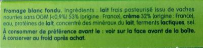 Kiri creme - 12p - Ingrediënten - fr