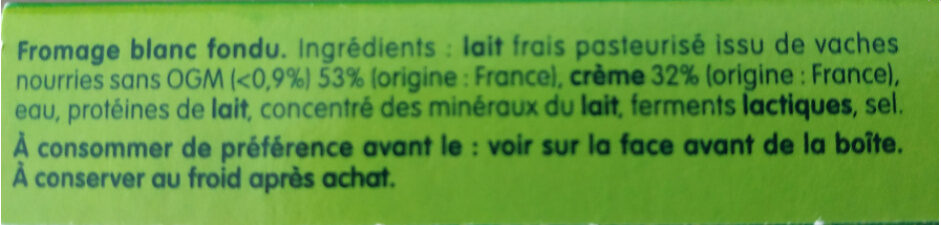 Kiri creme - 24p - Ingrédients - fr