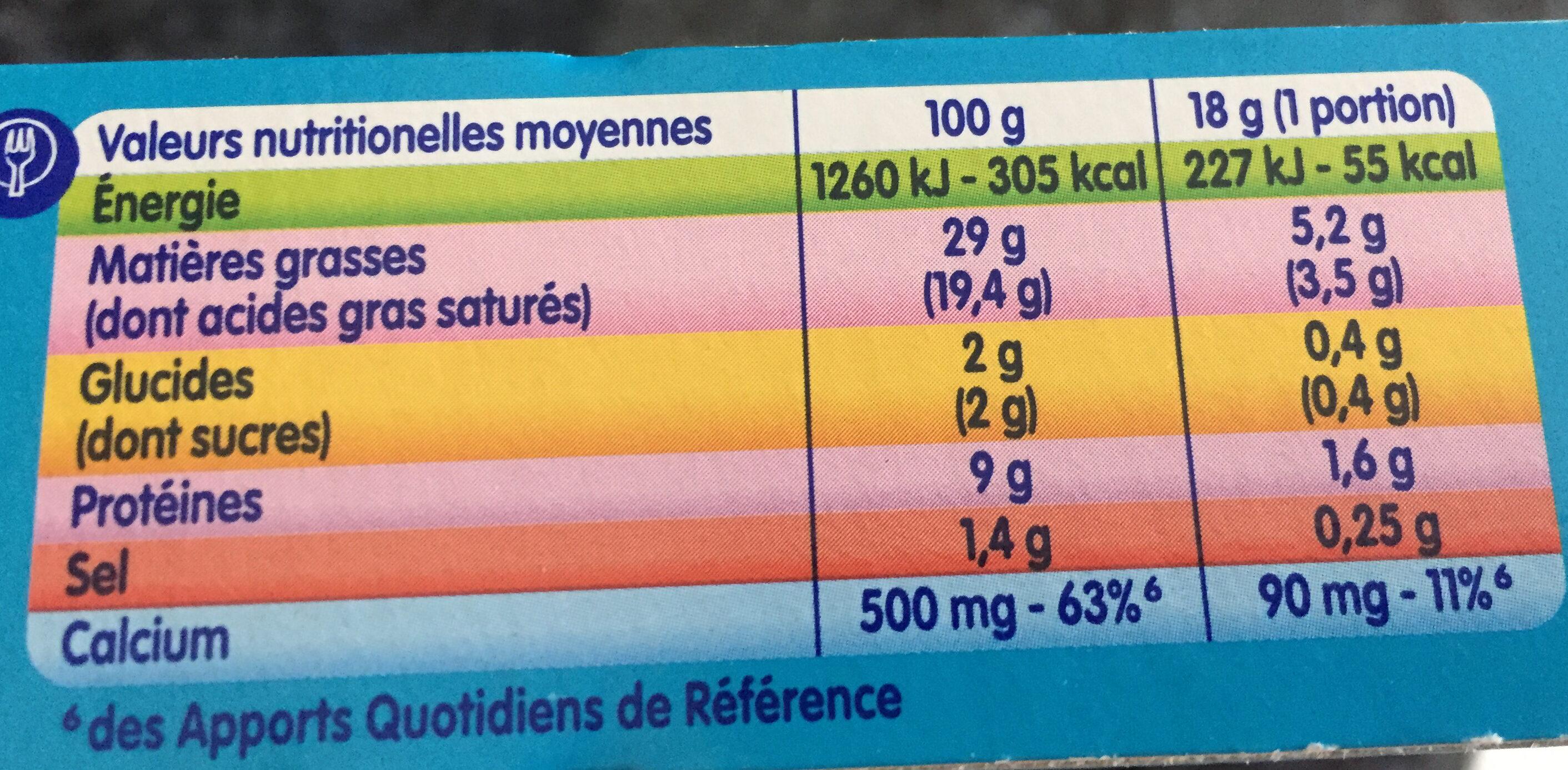 Kiri - Nutrition facts - fr