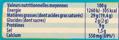 Kiri creme - 24p - Informations nutritionnelles - fr