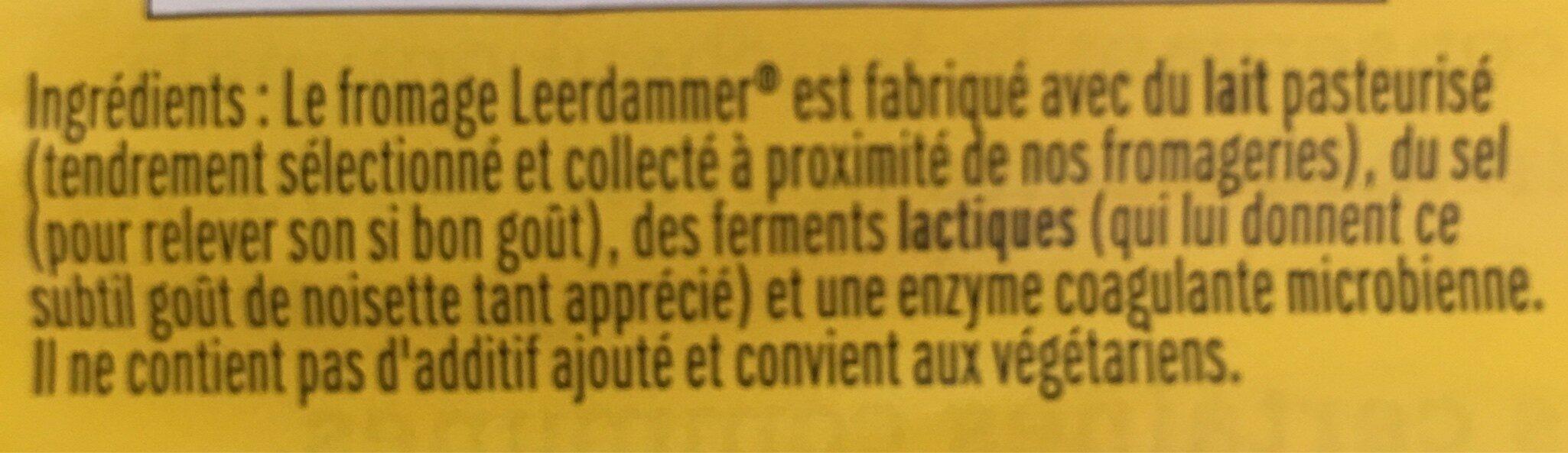 Leerdammer - Ingredients - fr