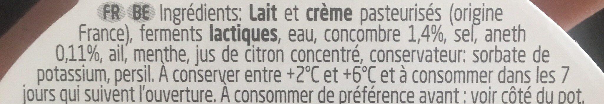 Boursin® Onctueux Concombre et Aneth - Ingredienti - fr