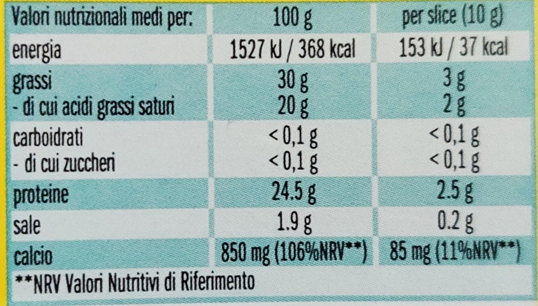 Xtra Sottili - Voedingswaarden