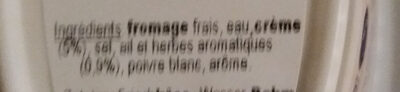 Cantadou ail & fines herbes - Ingredients