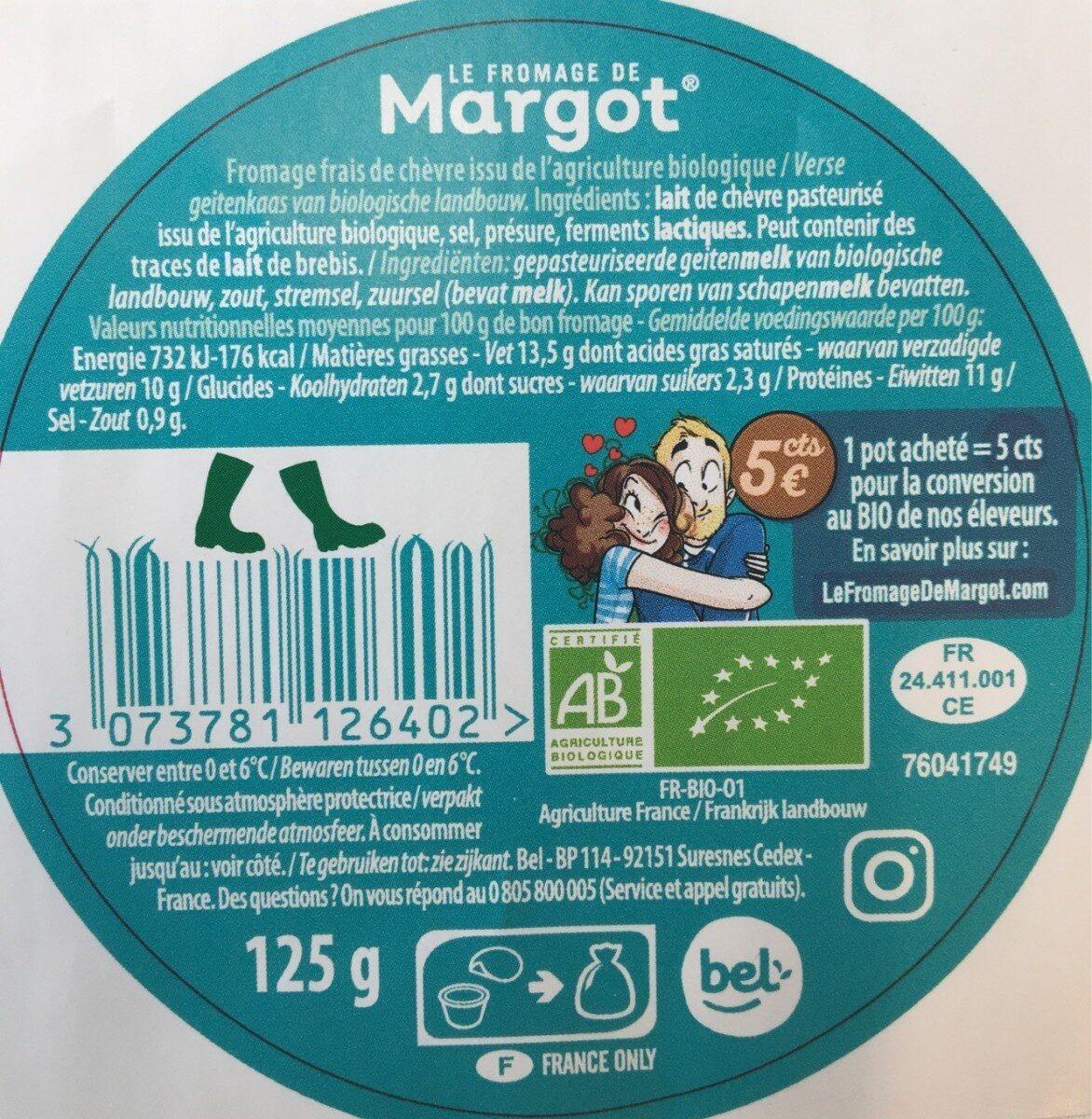 Le Fromage de Margot - Nutrition facts