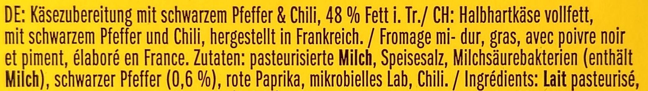 Leerdammer® Schwarzer Pfeffer-Chili - Ingredienti - de