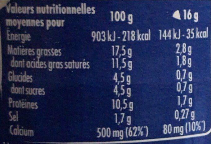 Vache Qui Rit - Informations nutritionnelles - fr