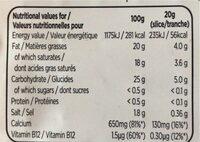 Nurishh - Tranches Végétales saveur Cheddar - Ingredienti - fr