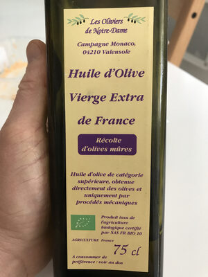 Huile d'olive vierge extra de France - Product