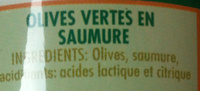 Olives verts - Ingredients - fr