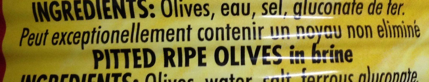 Olives confites noires dénoyautées - Ingredients - fr