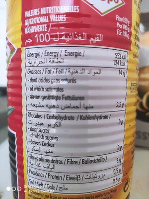 Olives confites noires dénoyautées - Nutrition facts - fr