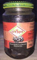 Olives noires à la grecque dénoyautées - Produit