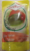 Olives vertes farcies à la pâte de poivron - Product - fr