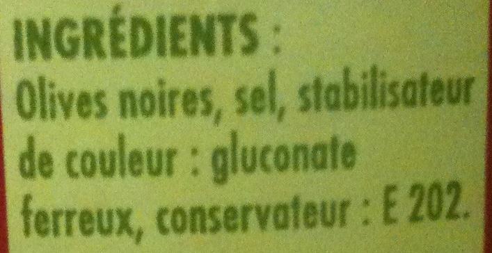 Crespo - Olives noires à la Grecque - Ingredients - fr