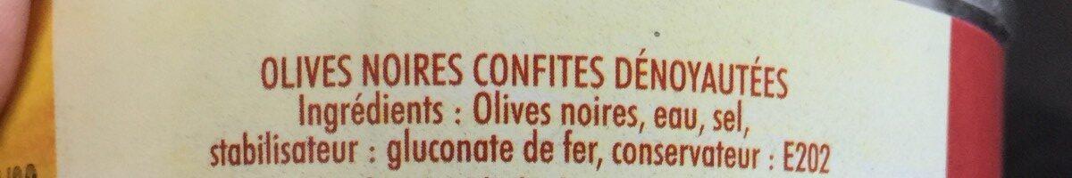 Crespo - Pitted Black Olives In Brine - Ingrédients - fr
