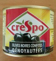 Olives noires confites dénoyautées - Product - fr