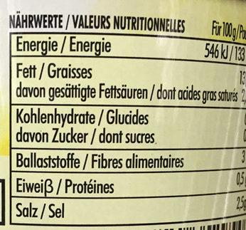 Olives noires confites dénoyautées - Nutrition facts - fr
