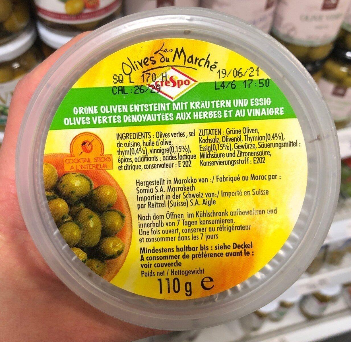 Olives vertes - Product - fr