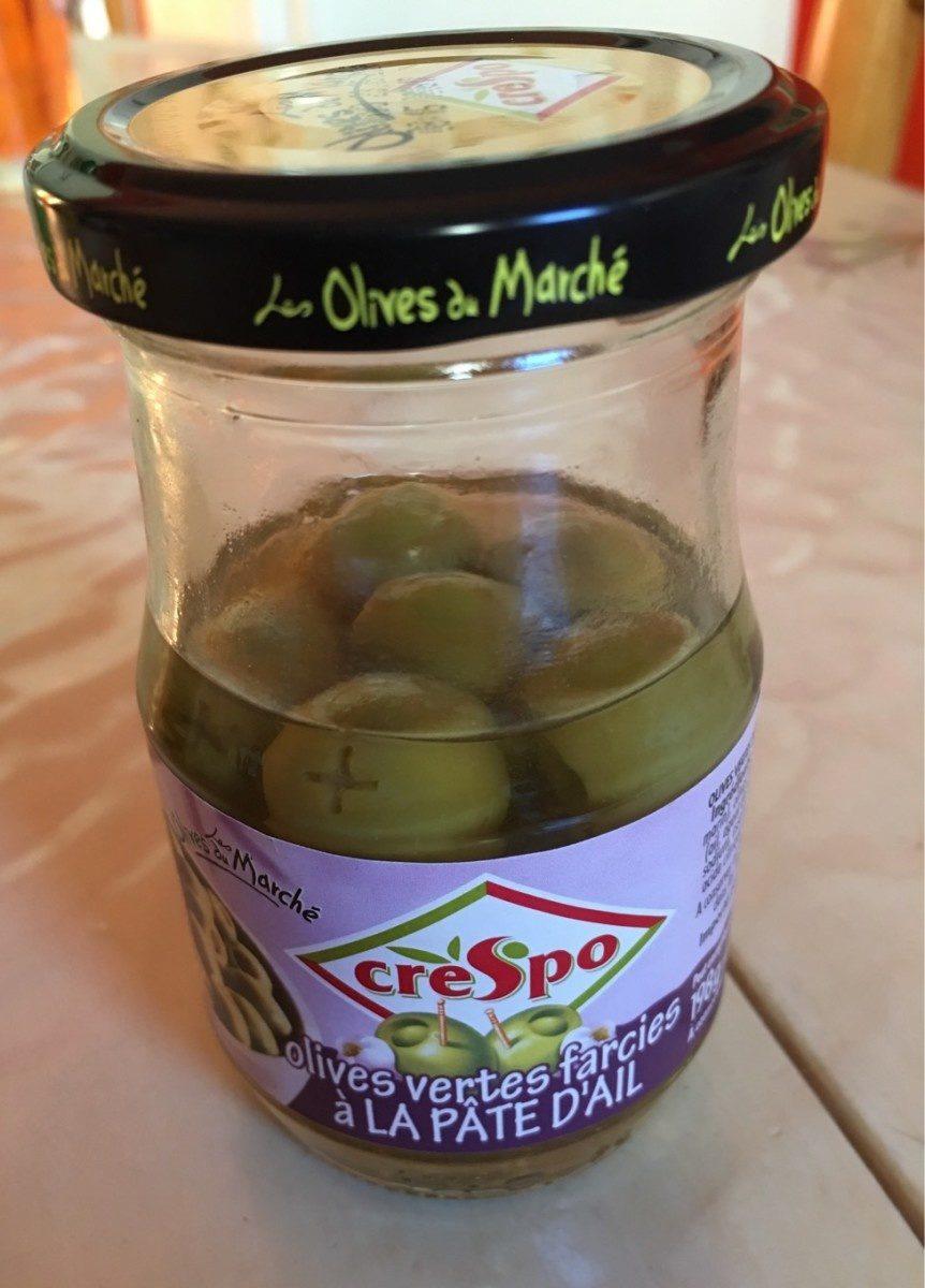 Olives vertes farcies à la pâte d'ail - Produit
