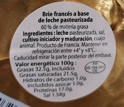 Queso Brie - Ingredientes
