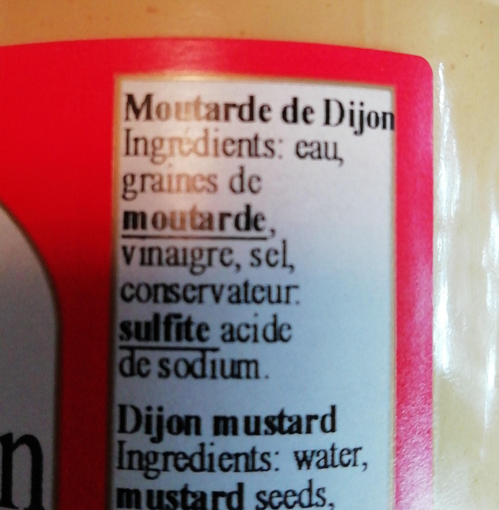 moutarde de Dijon extra-forte de stimula - Ингредиенты - fr